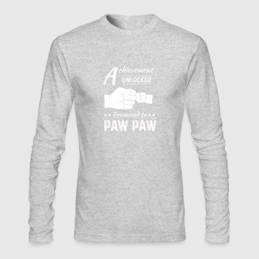 Proud New Grandpa Achievement Unclocked Paw Paw Me - Men's Long Sleeve T-Shirt by Next Level