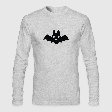 CARTOON BAT SILHOUETTE - Men's Long Sleeve T-Shirt by Next Level