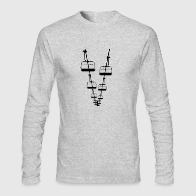 Ski Lift - Men's Long Sleeve T-Shirt by Next Level