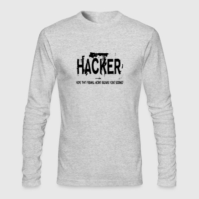 Hacker - Men's Long Sleeve T-Shirt by Next Level