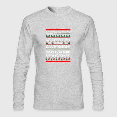 2017 1st Christmas Awesome HeavyEquipment Operator - Men's Long Sleeve T-Shirt by Next Level