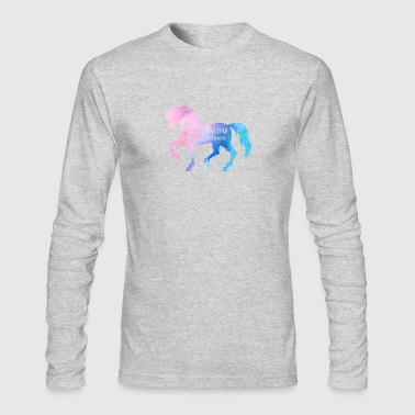 DISTRESSED HORSE - Men's Long Sleeve T-Shirt by Next Level