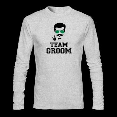Team groom bachelor party - Men's Long Sleeve T-Shirt by Next Level