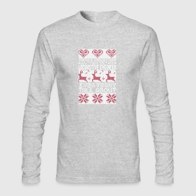 Merry Christmas Locomotive Engineer Everybody Talk - Men's Long Sleeve T-Shirt by Next Level