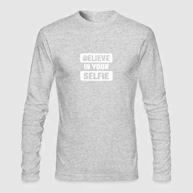 BELIEFE IN YOUR SELFIE - Men's Long Sleeve T-Shirt by Next Level