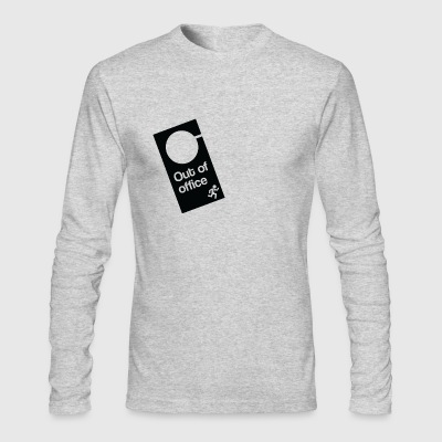 Out Of Office Door Hanger - Men's Long Sleeve T-Shirt by Next Level