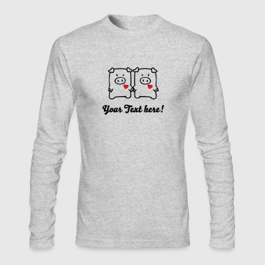 two cute pigs - Men's Long Sleeve T-Shirt by Next Level
