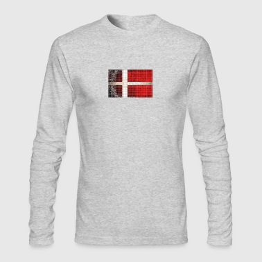 Denmark Flag Mosaic T Shirt - Men's Long Sleeve T-Shirt by Next Level