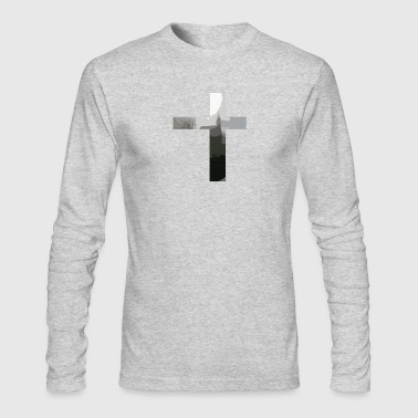 Crucifix And Church - Men's Long Sleeve T-Shirt by Next Level