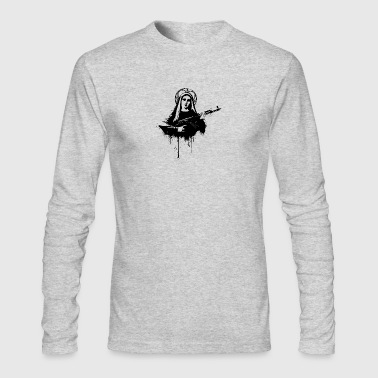 Virgin Mary with Kalashnikovs AK47 - Men's Long Sleeve T-Shirt by Next Level