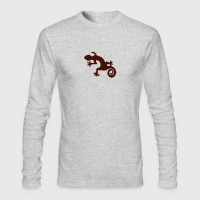 iguana silhouette - Men's Long Sleeve T-Shirt by Next Level