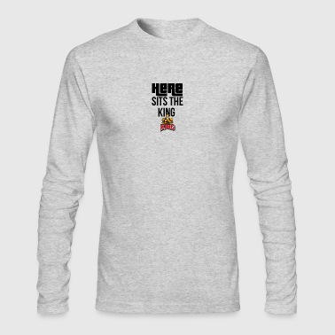 Here sits the KING - Men's Long Sleeve T-Shirt by Next Level
