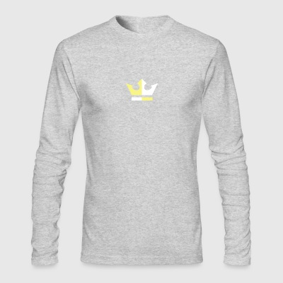 white on gold - Men's Long Sleeve T-Shirt by Next Level