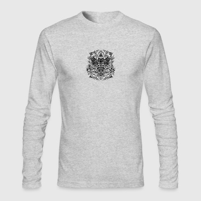 Tribal Owl - Men's Long Sleeve T-Shirt by Next Level
