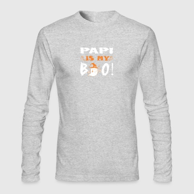 Papi Is My Boo Happy Halloween - Men's Long Sleeve T-Shirt by Next Level
