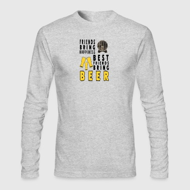 beer Best frind brings beer - Men's Long Sleeve T-Shirt by Next Level