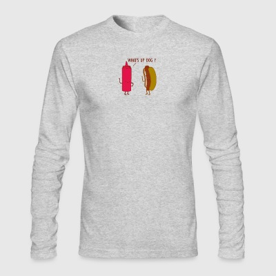 What Up Dog Ketchup Hot Dog - Men's Long Sleeve T-Shirt by Next Level