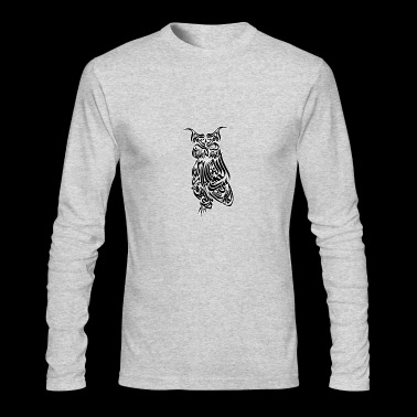 Owl arabic calligraphy - Men's Long Sleeve T-Shirt by Next Level
