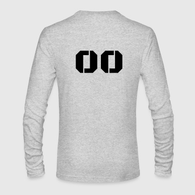Jersey Number 00 - Men's Long Sleeve T-Shirt by Next Level