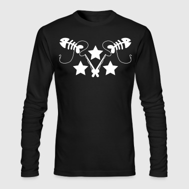 FISH BONES with fishing rods DESIGN - Men's Long Sleeve T-Shirt by Next Level