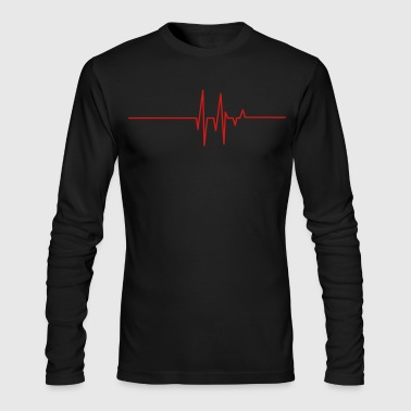 heart beat line - Men's Long Sleeve T-Shirt by Next Level