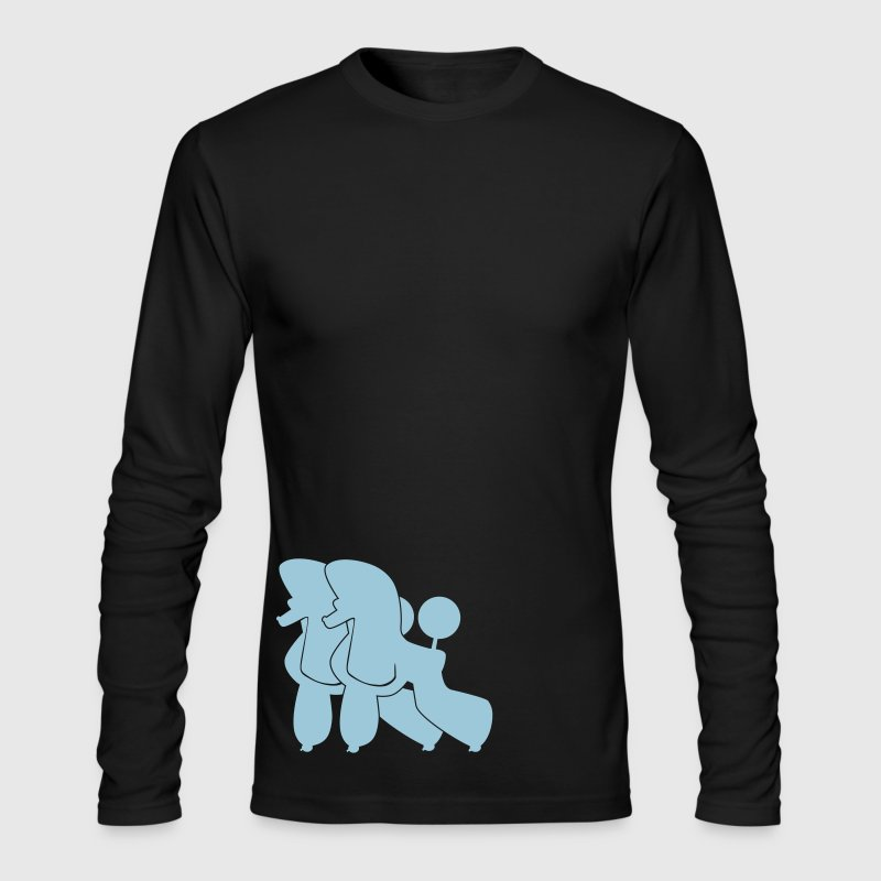Two Poodle  - Men's Long Sleeve T-Shirt by Next Level