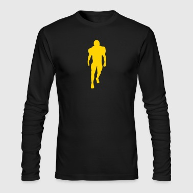football player silhouette - Men's Long Sleeve T-Shirt by Next Level