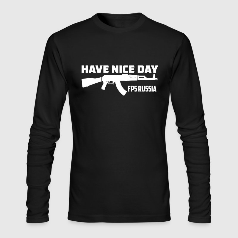 FPS Russia Have Nice Day MP Hoodies - Men's Long Sleeve T-Shirt by Next Level