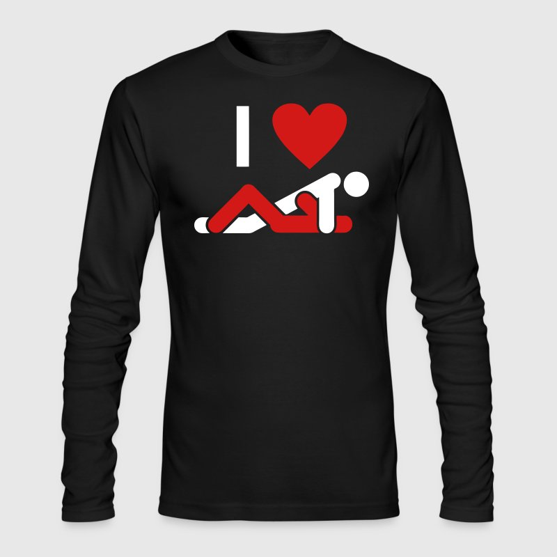 I LOVE FUCKING - Men's Long Sleeve T-Shirt by Next Level