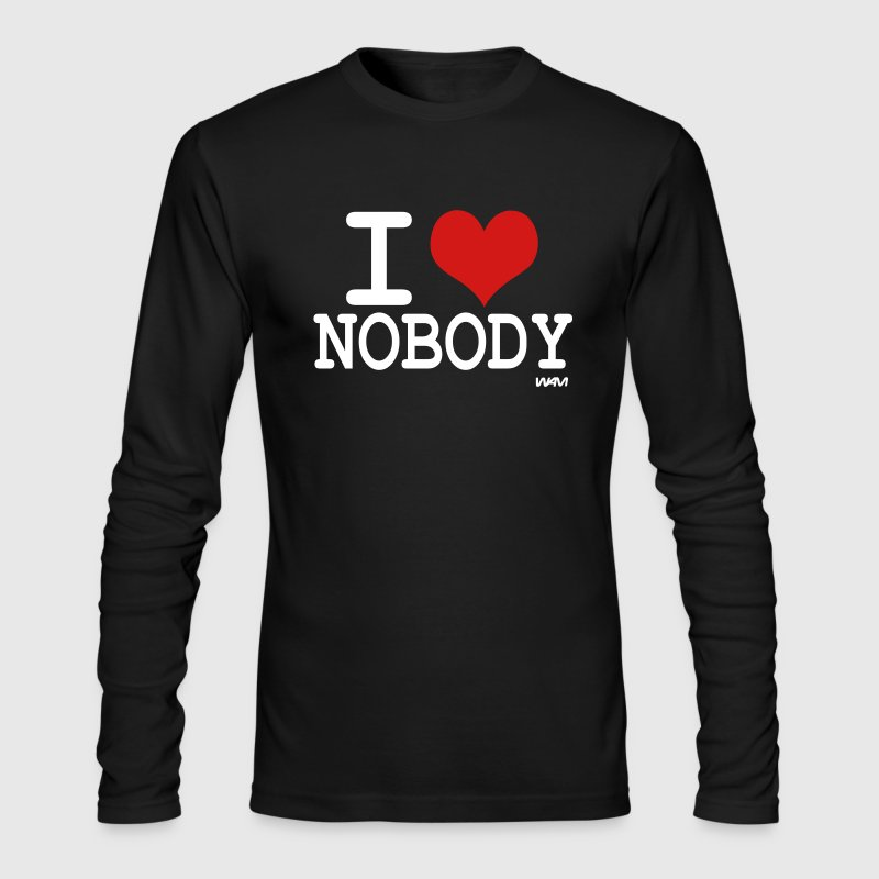 i love nobody by wam - Men's Long Sleeve T-Shirt by Next Level
