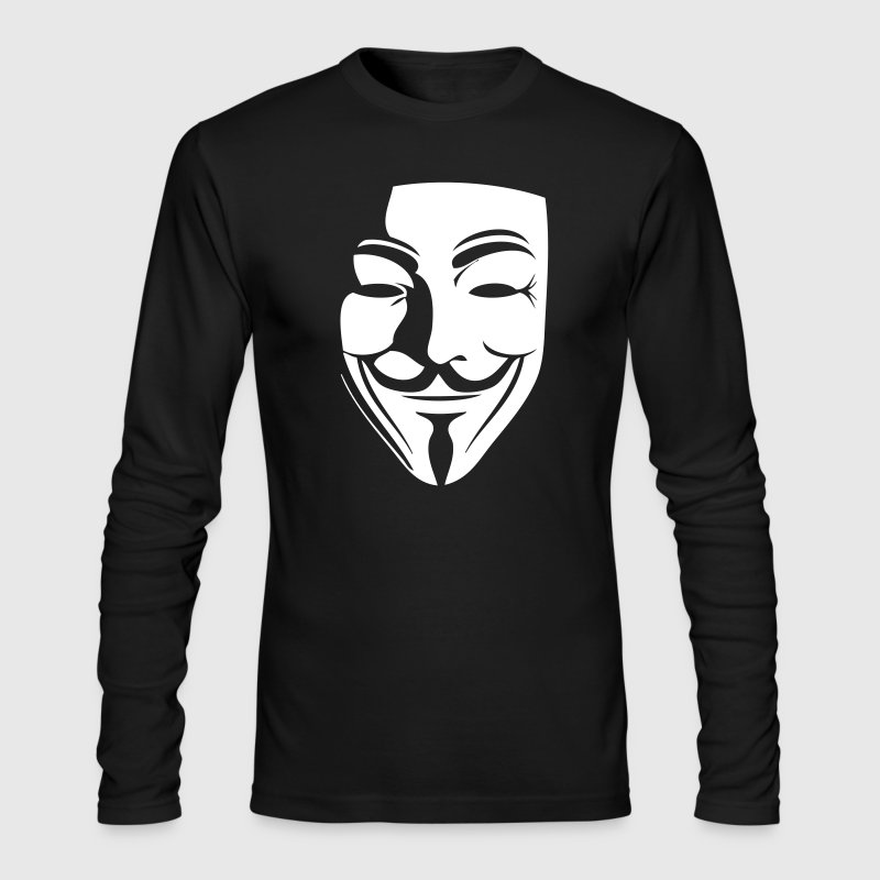 guy fawkes - Men's Long Sleeve T-Shirt by Next Level