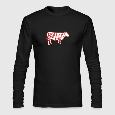 cow grilling - Men's Long Sleeve T-Shirt by Next Level