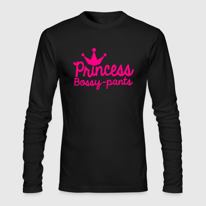 PRINCESS Bossy pants royal cute girly design - Men's Long Sleeve T-Shirt by Next Level