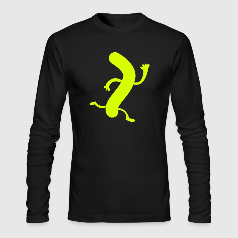 weiner sausage on the run - Men's Long Sleeve T-Shirt by Next Level