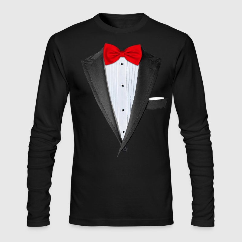 Realistic Tuxedo T Shirt - Men's Long Sleeve T-Shirt by Next Level