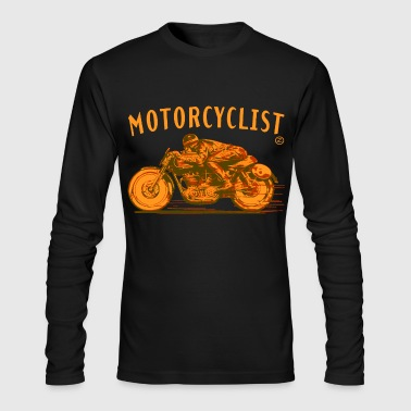 motorcyclist - Men's Long Sleeve T-Shirt by Next Level