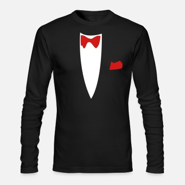 Funny Funny Joke Tux Gag T-shirts - Men's Long Sleeve T-Shirt by Next Level