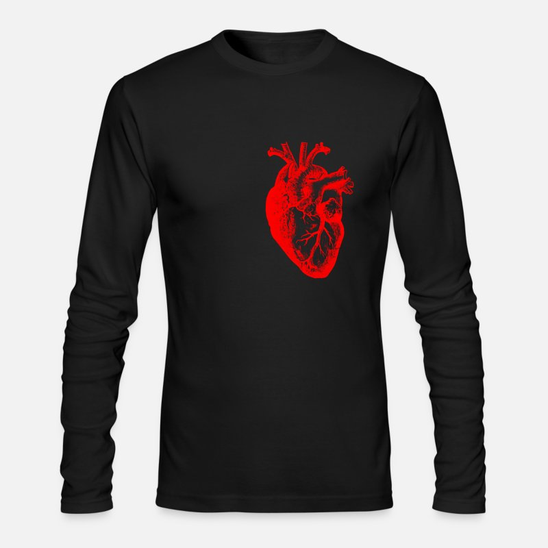 Student Long sleeve shirts - I love / I heart heart anatomy - Men's Longsleeve Shirt black