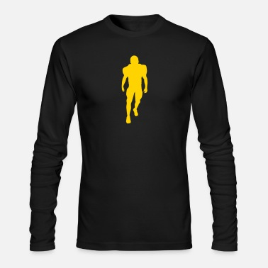 Long football player silhouette - Men's Long Sleeve T-Shirt by Next Level