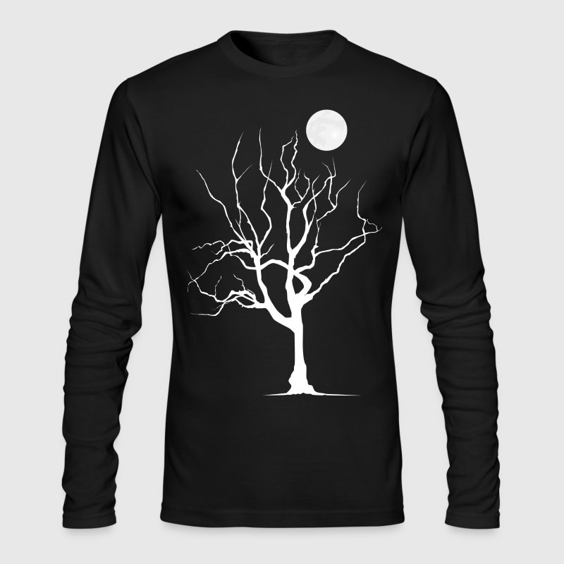Dead Tree with Moon - Men's - Men's Long Sleeve T-Shirt by Next Level