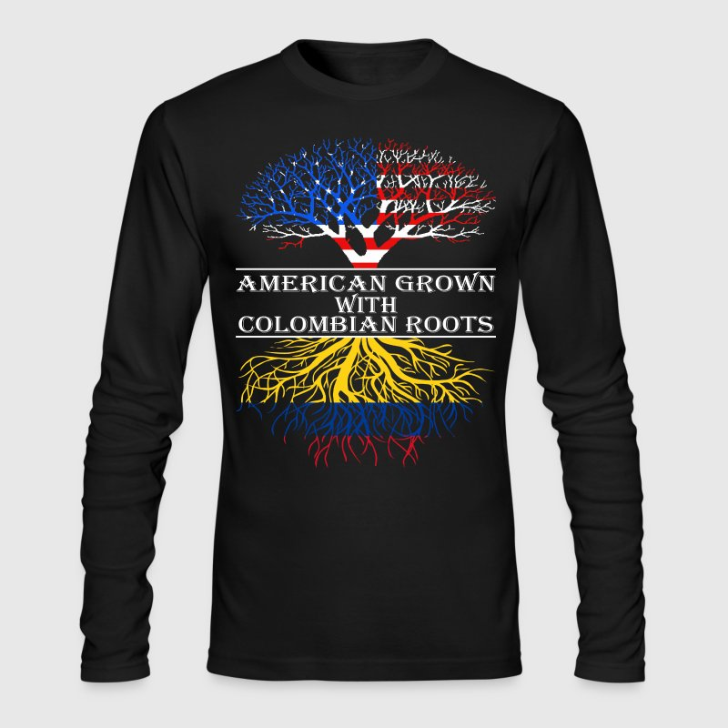 American Grown With Colombian Roots - Men's Long Sleeve T-Shirt by Next Level