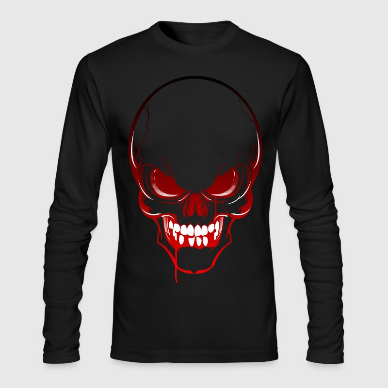 Horror Skull - Men's Long Sleeve T-Shirt by Next Level