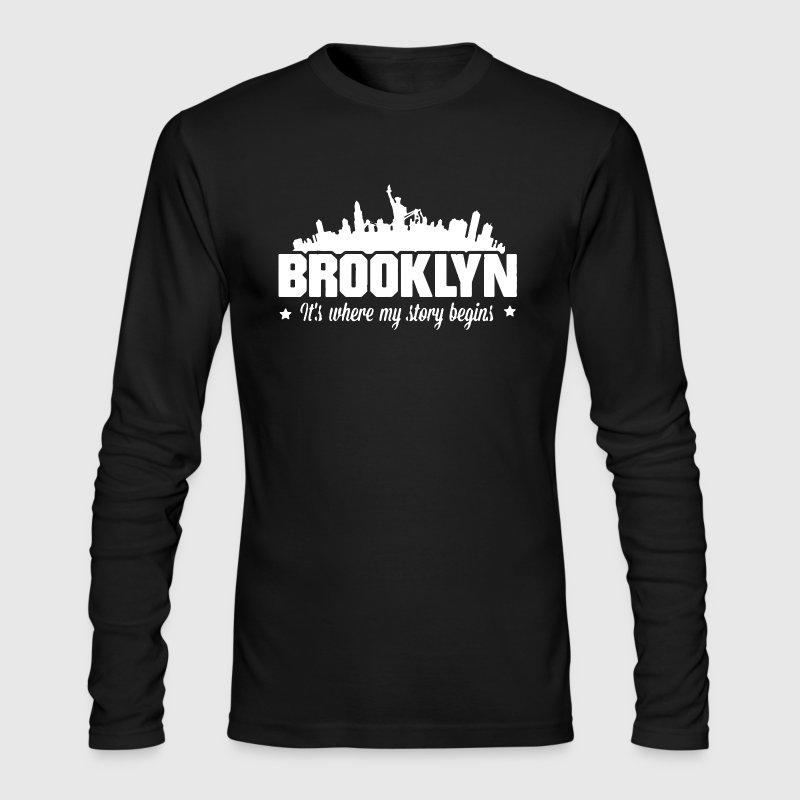 Brooklyn Shirts - Men's Long Sleeve T-Shirt by Next Level