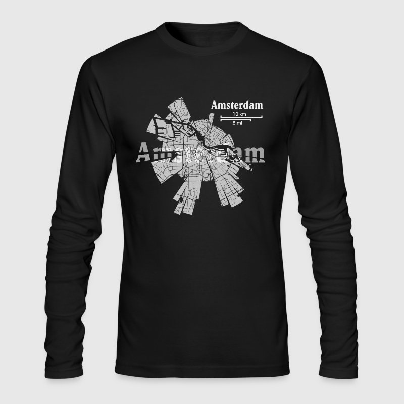 Amsterdam Map - Men's Long Sleeve T-Shirt by Next Level
