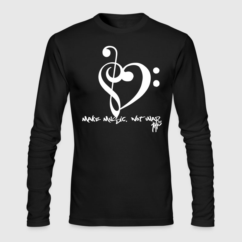 Make Music. Not War. - Men's Long Sleeve T-Shirt by Next Level