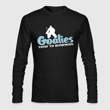 Hockey Goalie Hockey Goalies Tend To Business - Men's Long Sleeve T-Shirt by Next Level