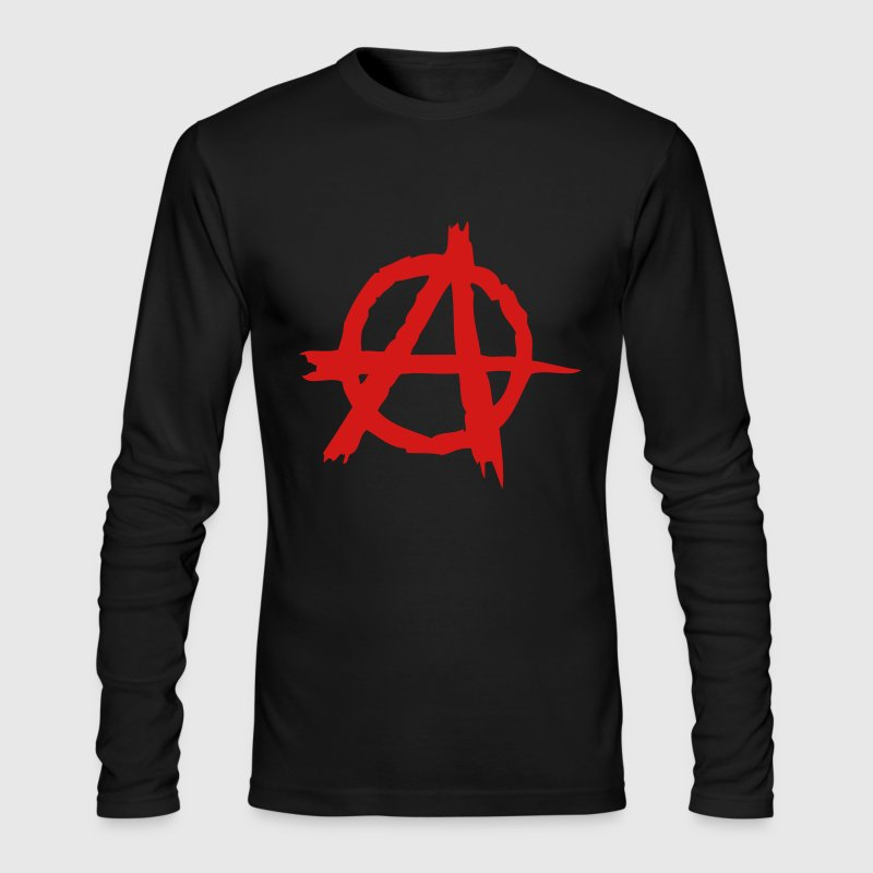 Anarchy - Men's Long Sleeve T-Shirt by Next Level