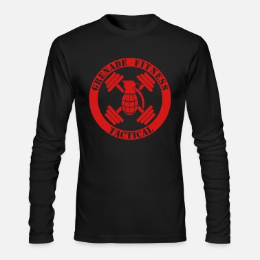 Long Sleeves Work Grenade Fitness Tactical Long Sleeve - Men's Long Sleeve T-Shirt by Next Level