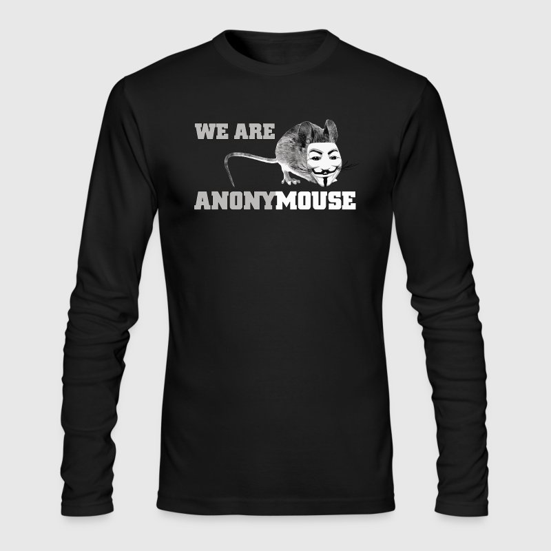 We are anony mouse - anonymous - Men's Long Sleeve T-Shirt by Next Level