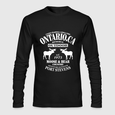 Ontario Moose - Canada - Men's Long Sleeve T-Shirt by Next Level